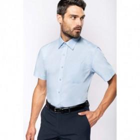 Chemise en popeline homme manches courtes - Blanc
