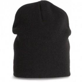 Bonnet classique tricoté en acrylique unisexe