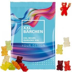 Sachet de 100g d'oursons XXL en gomme de fruits - bonbons