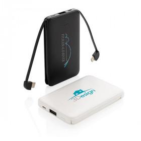Batterie de secours 5000 mAh avec câbles intégrés CERIZY
