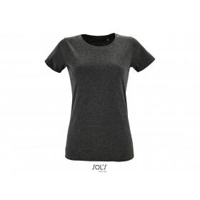 Tee-shirt ajusté col rond Femme REGENT FIT 150 grs