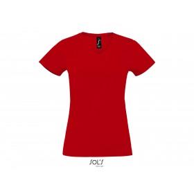 Tee-shirt col V Femme IMPERIAL V 190 grs
