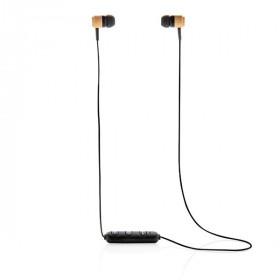 Ecouteurs sans fil en bambou CAUJAC