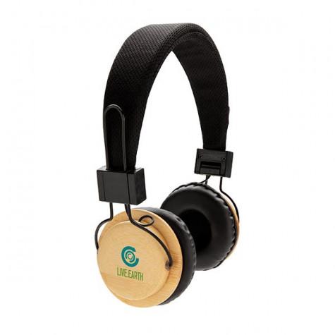 Casque audio sans fil en bambou CATTEVILLE