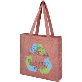 Sac shopping recyclé avec soufflet