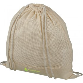 Sac à dos en maille de coton avec cordon de serrage