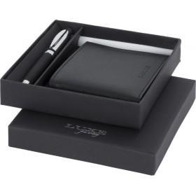 Coffret cadeau stylo bille et portefeuille