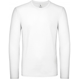 Tee-shirt blanc homme manches longues 145grs