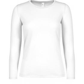 Tee-shirt blanc femme manches longues 145grs