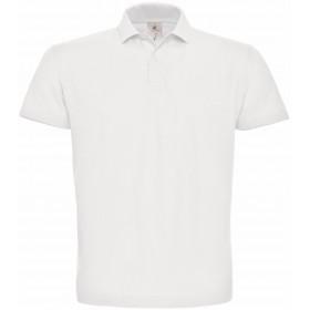 Polo piqué blanc homme manches  courtes 180g