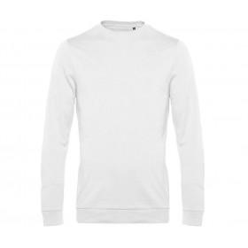 Sweat-shirt blanc homme intérieur non gratté 280 grs