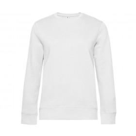 Sweat-shirt blanc femme 280 grs ultra doux