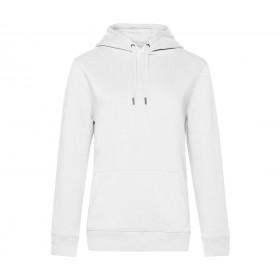 Sweat-shirt blanc femme à capuche 280 grs