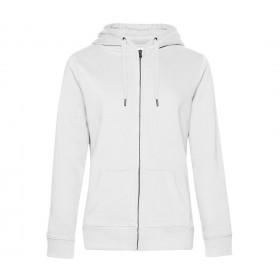 Veste blanche femme zippée à capuche 280 grs