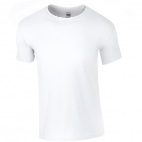 Tee-shirt blanc homme col rond 150 grs