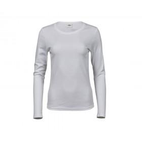 Tee-shirt blanc femme interlock 220 grs