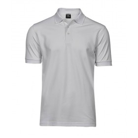 Polo blanc strech homme 215 grs