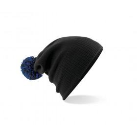 Bonnet pompon 2 tons en acrylique