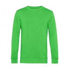 Sweat couleur en coton organique col rond homme