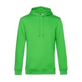 Sweat couleur à capuche en coton organique homme