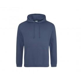Sweat-shirt couleur à capuche doublée homme