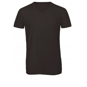 Tee-shirt tri-blend couleur homme manches courtes col V