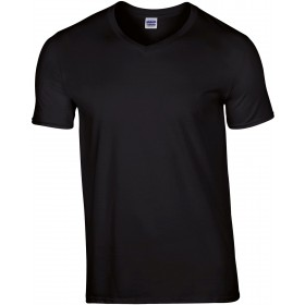 Tee-shirt couleur homme col V 185 grs