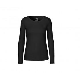 T-shirt couleur femme en coton bio manches longues