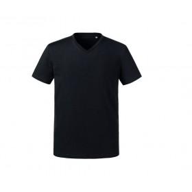 T-shirt couleur organique col V homme