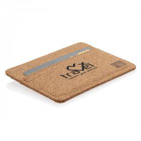 Porte-cartes anti RFID en liège BUAIS