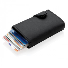 Porte-cartes anti RFID en aluminium et PU BUANES