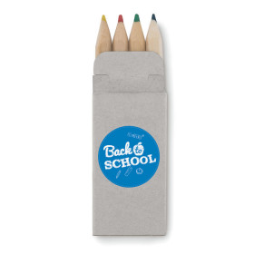 Set de 4 mini crayons de couleur CAMPBON
