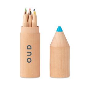 Set de 6 crayons dans un étui en bois CAMPEAUX