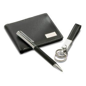 Set cadeau composé d'un stylo, un porte clés et un porte-monaie CAMPIGNY