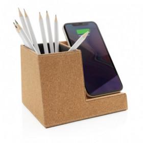 Porte-stylo en liège avec chargeur sans fil - GELUCOURT